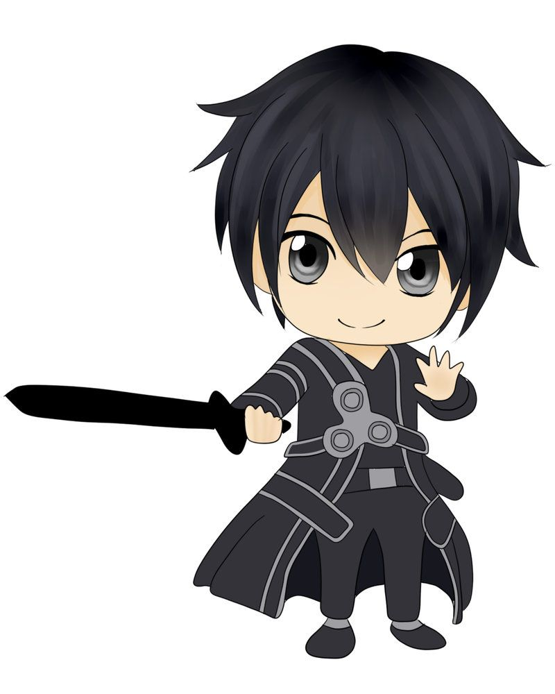 Sword art online kirito chibi by husariya098 on deviantart