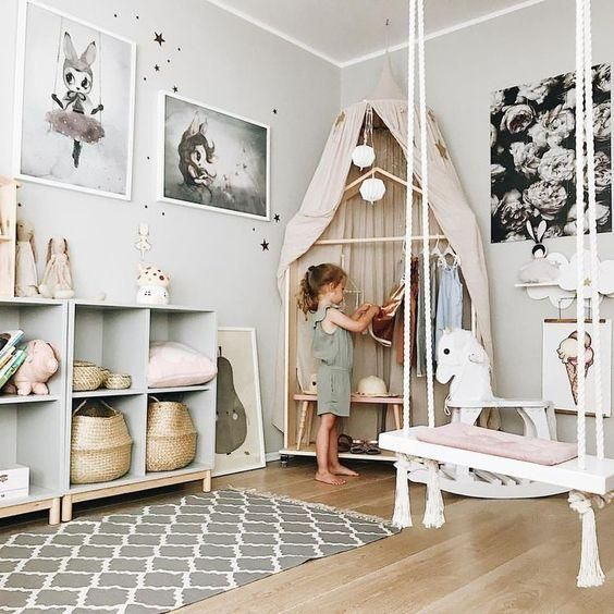Photo of Inspiration of Tip Round Dome Mantle Cotton Tent Bed Canopy for Baby Playroom