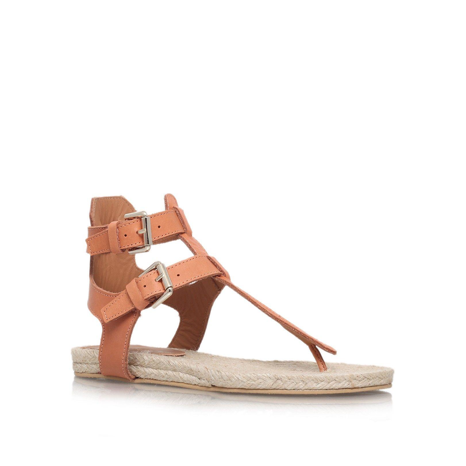 marla tan flat sandals from Kurt Geiger London