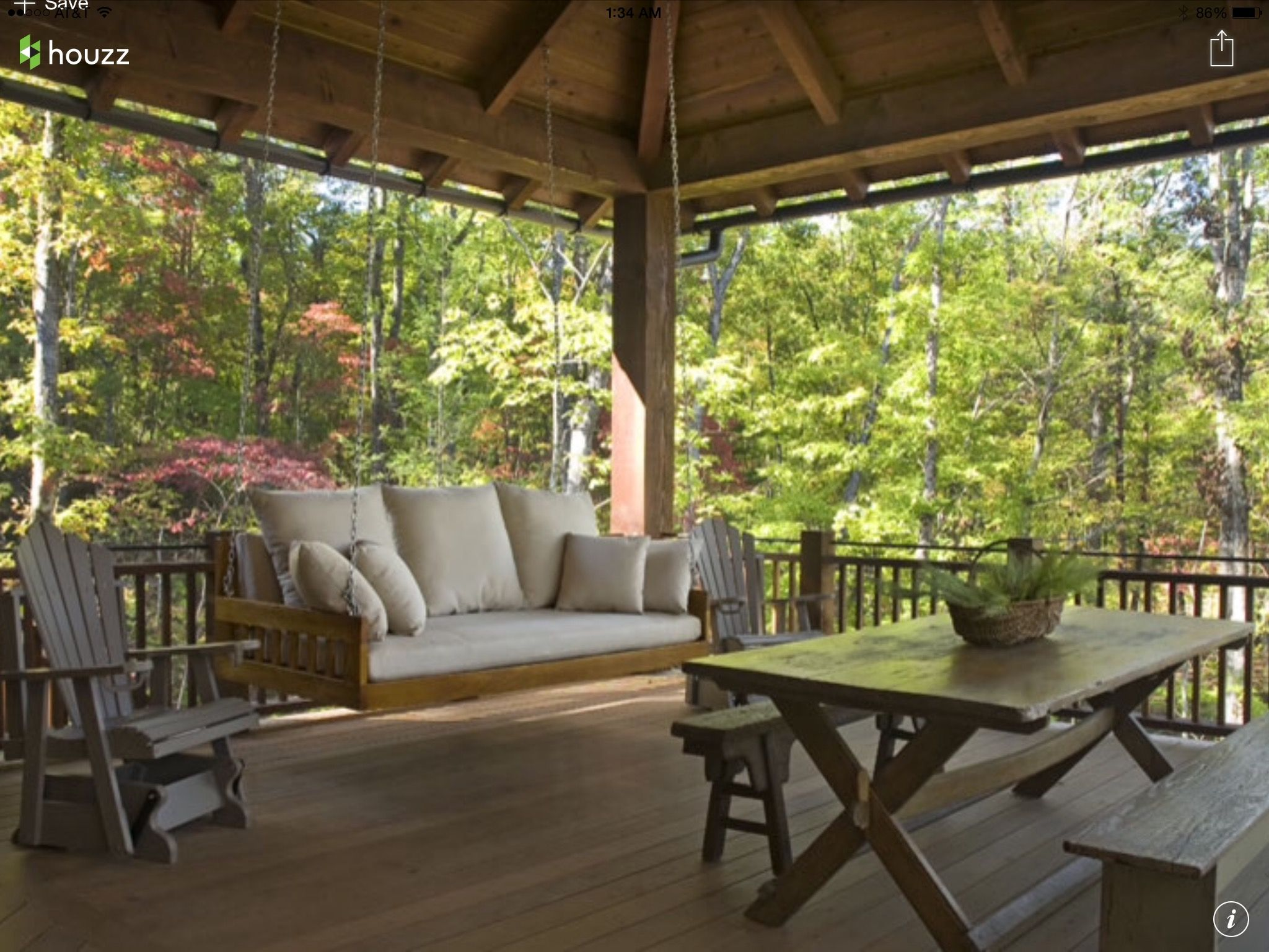 Home image by Pin This on Backyard   Traditional porch ...