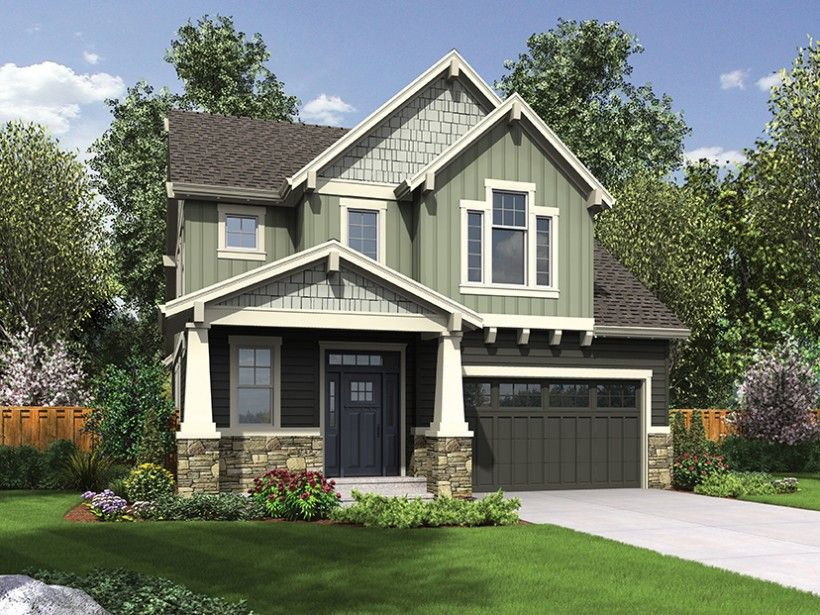 This compact yet efficiently designed Craftsman plan