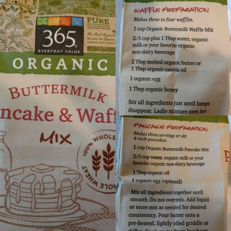 Whole Food S 365 Organic Pancake Mix Instructions Organic Pancake Mix Pancake Mix Instructions Organic Butter