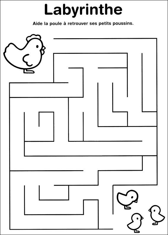 Jeu du labyrinthe à imprimer | grafo | Pinterest | Pädagogik, Mathe ...