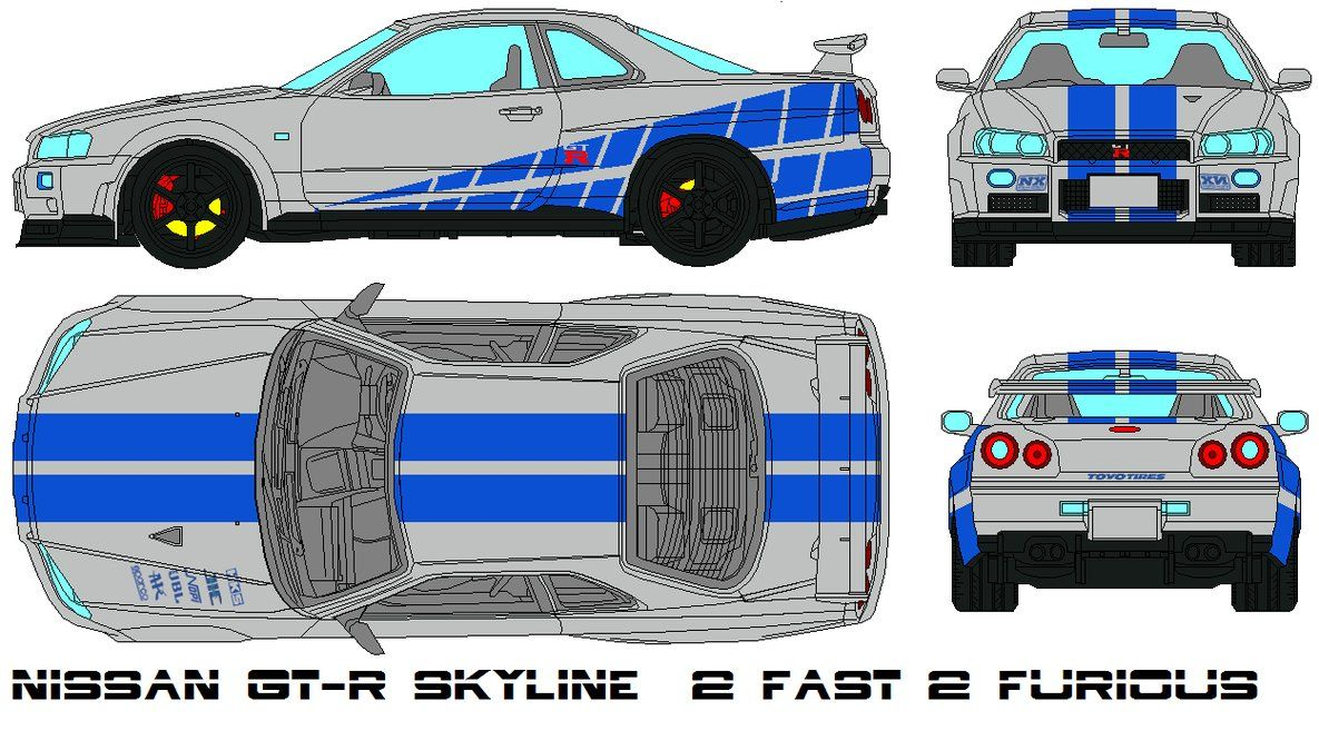 nissan gt r skyline 2 fast 2 furious - Fast And Furious Cars Skyline