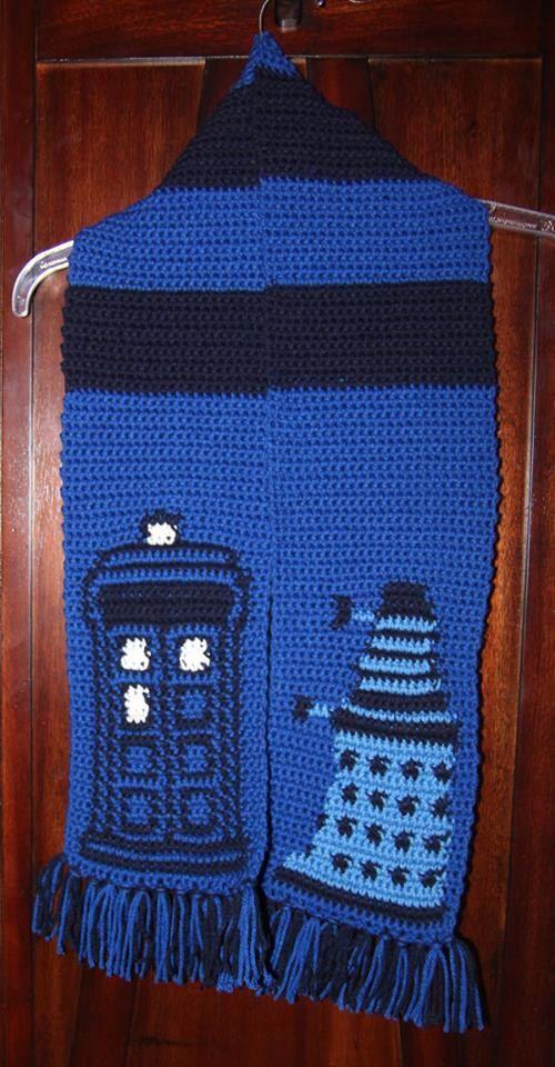 Doctor Who TARDIS Dalek Scarf Pattern | Dr Who, Dr. Who und Ärzte