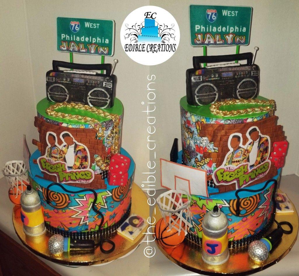Fresh Prince Of Bel Air 90 S Cake Prince Birthday Party Prince