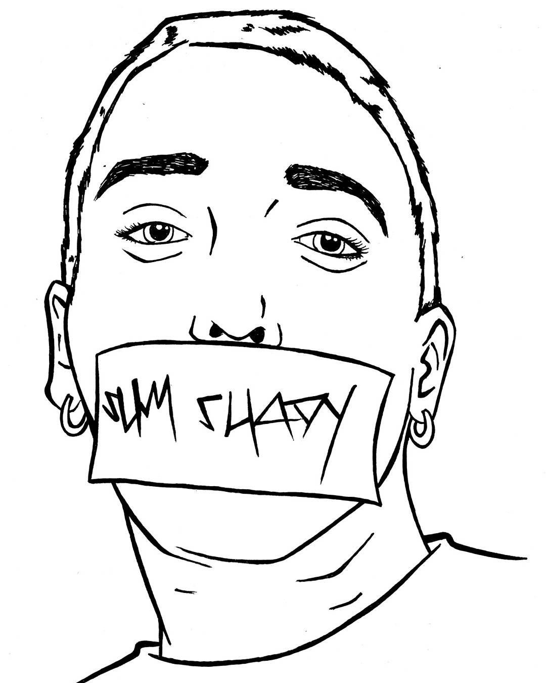 lil pump coloring pages | #eminem #slimshady #art #linedrawing #rapper # ...