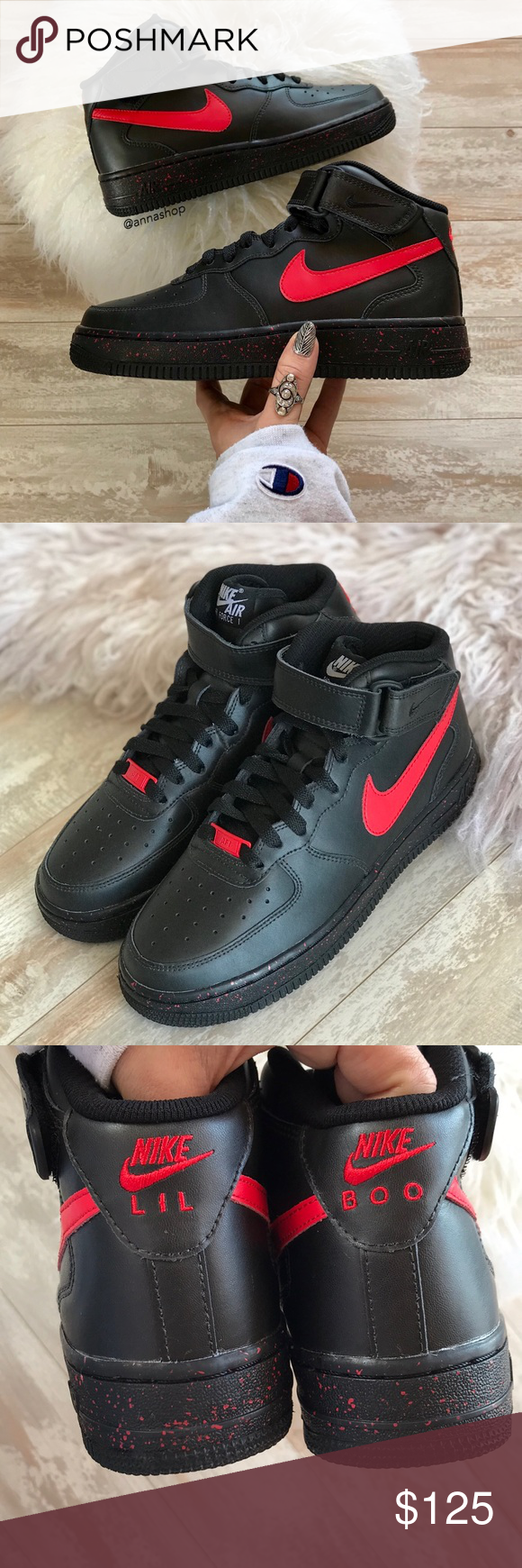 check out ef5fd 9d78c NWTNike ID Air Force 1 Leather Mid Oreo! Custom made Nike ID.