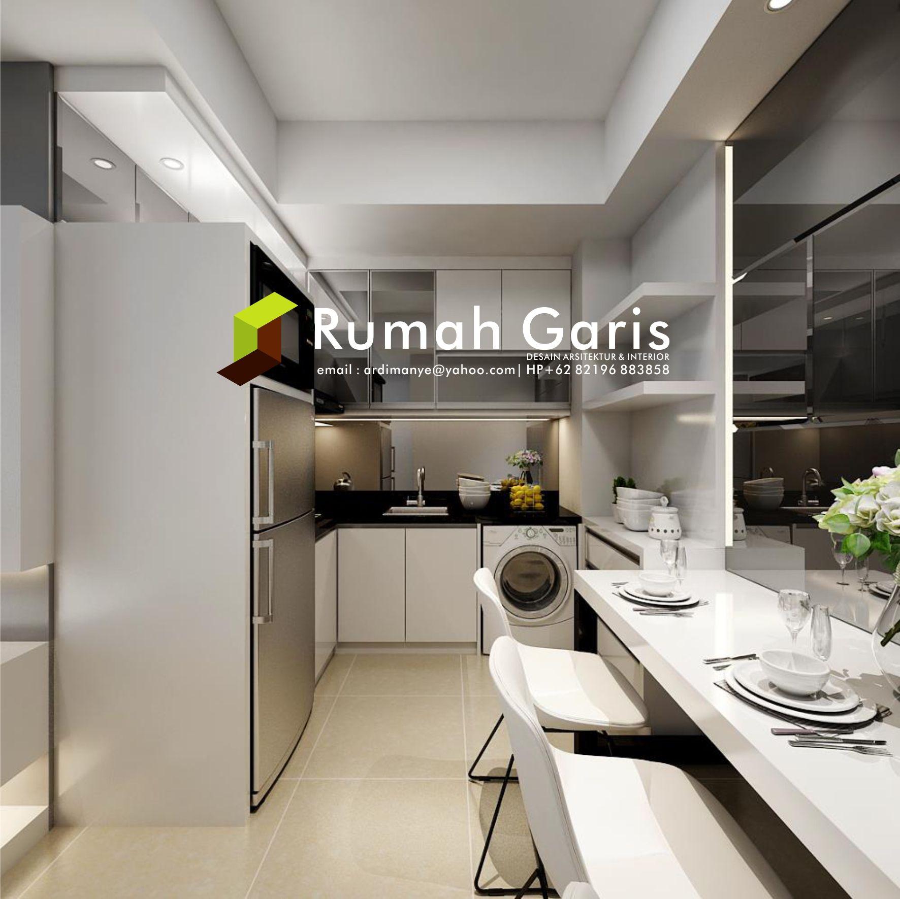 Desain Dapur Kitchen Set Interior Apartemen Jasarender