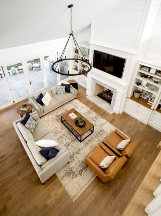 52 Affordable Family Living Room Design Ideas images