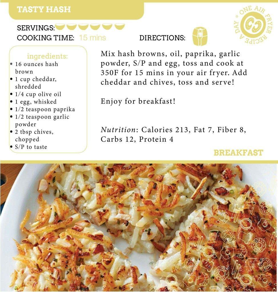 Air Fryer Tasty Hashbrowns Recipe. in 2019 Air fryer