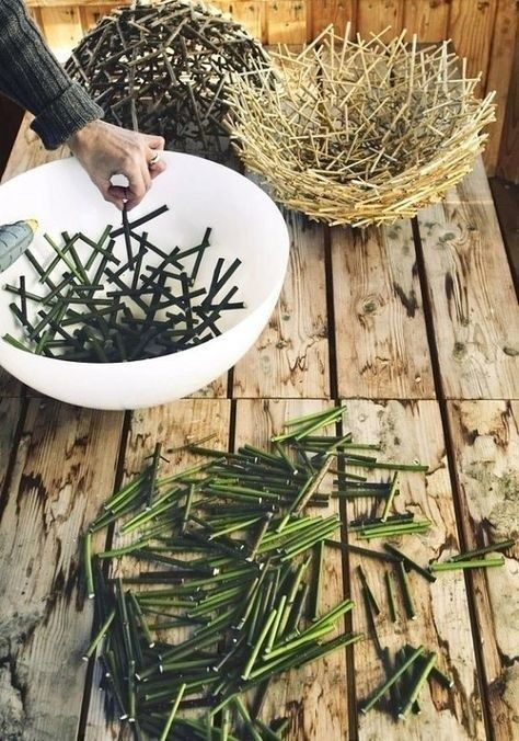 Easy DIY decorations for home and garden projects from twigs