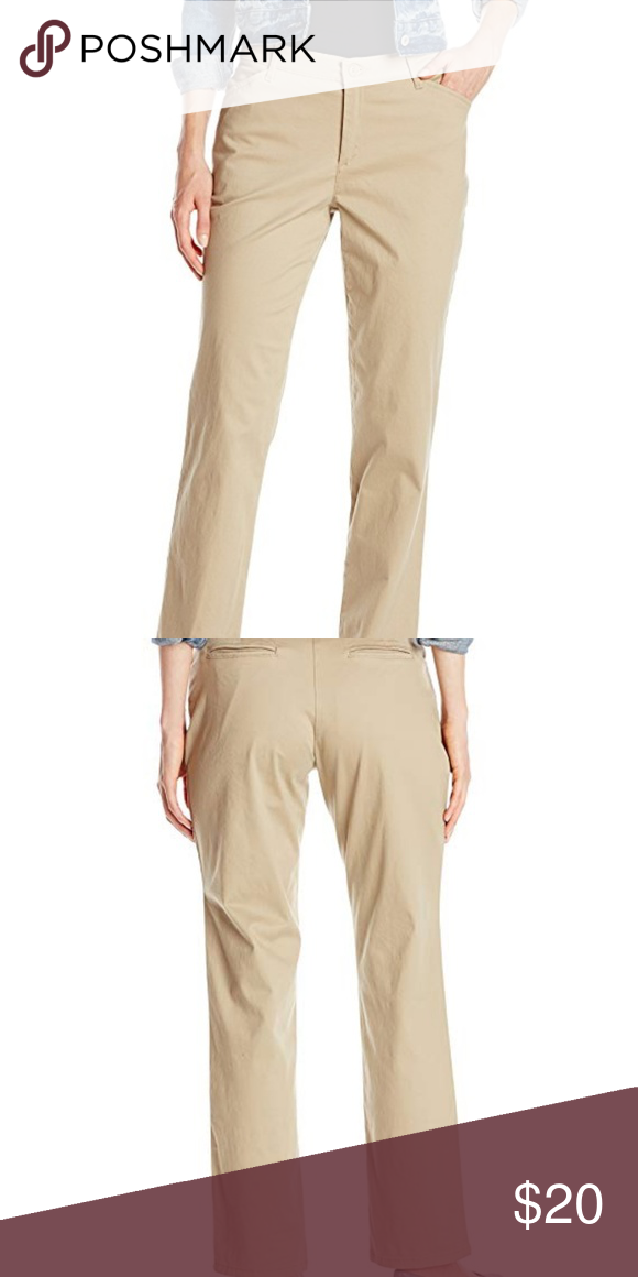 9b8bc119a91 LEE Women s Relaxed Fit All Day Straight Leg Pant New Without Tags Size    16 Medium Color   Khaki Lee Pants Straight Leg