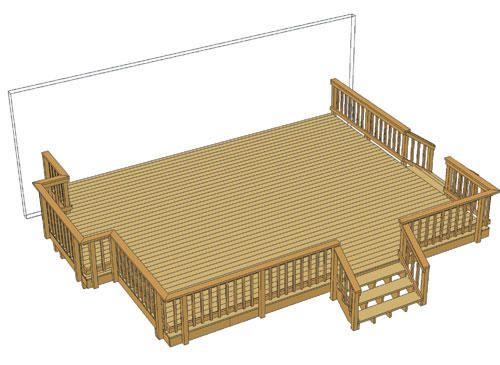 24 X 20 Deck W Patio Design Backyard Diy Projects Patio Stones