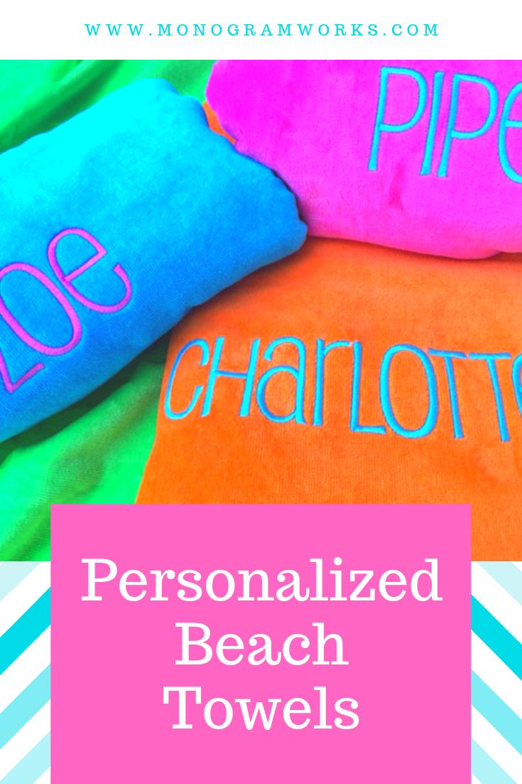Monogram Beach Towel Bridesmaid Towel Teachers Gift Destination