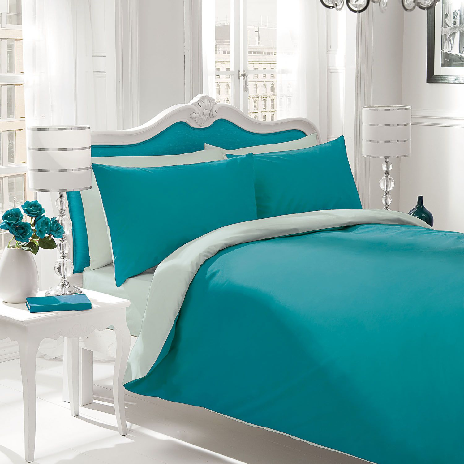 Bedding sets turquoise - Teal Comforters And Bedspreads Home Bedding Sets Gaveno Cavailia Plain Dyed Bedding Set
