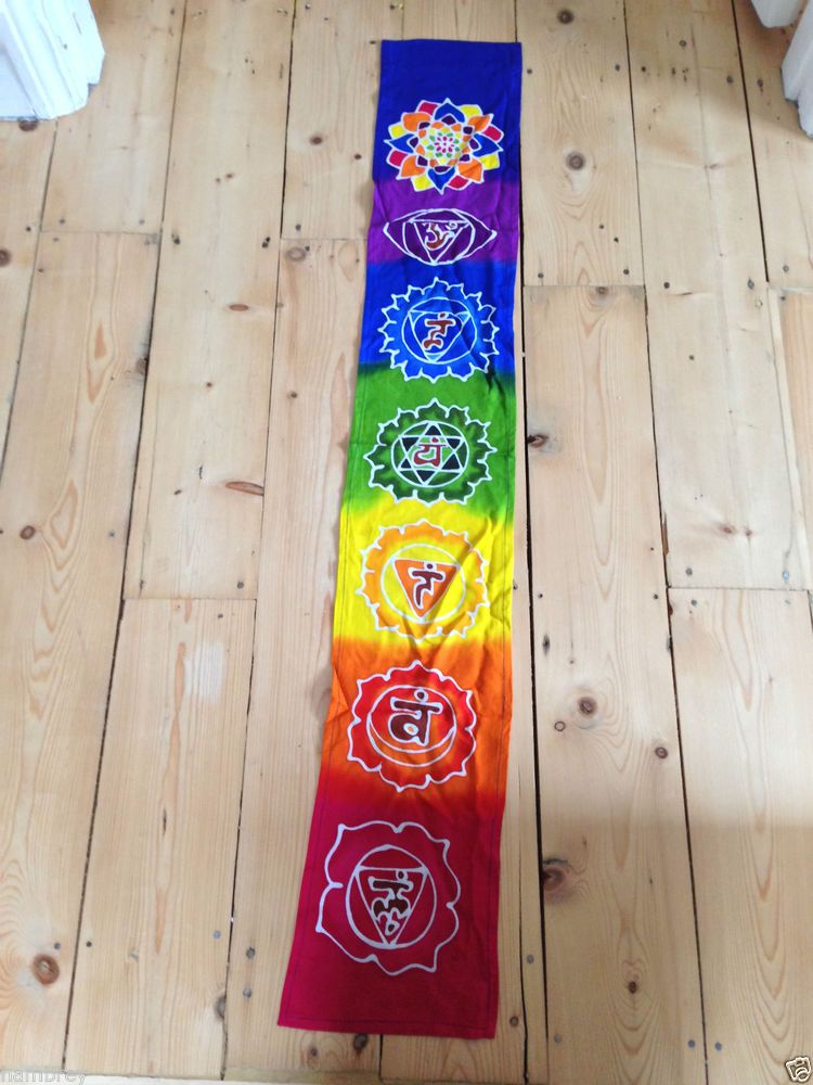 Chakra Batik Wall Hanging Fair Trade Meditation Ethnic New Age Healing