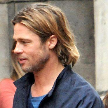 Coiffure Du Jour Brad Pitt Et Ses Cheveux Longs Sur Le Tournage De World War Z Beaute Plurielles Fr Mens Hairstyles Hair Styles Brad Pitt