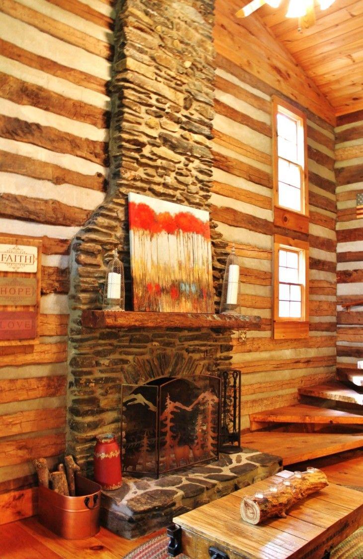 NC Mountain Antique Log Cabin   Log home decorating, Log ...
