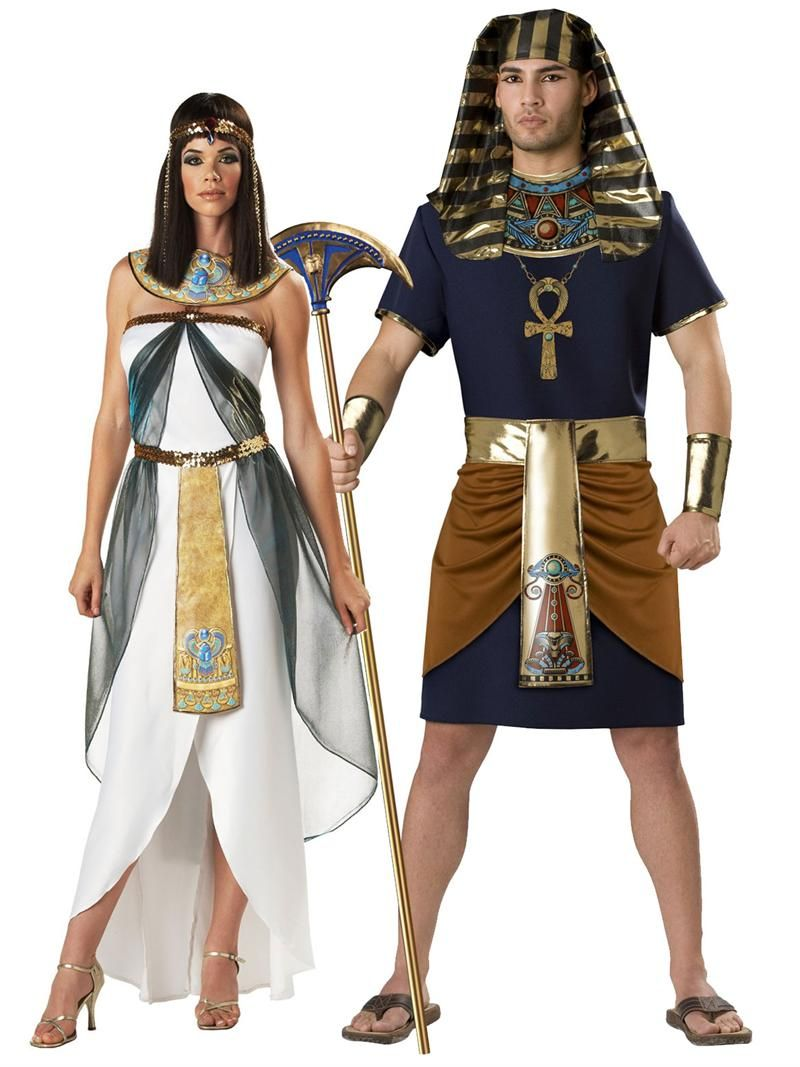Egyptian Adult Couples Costume - In Character Costumes. Halloween ...