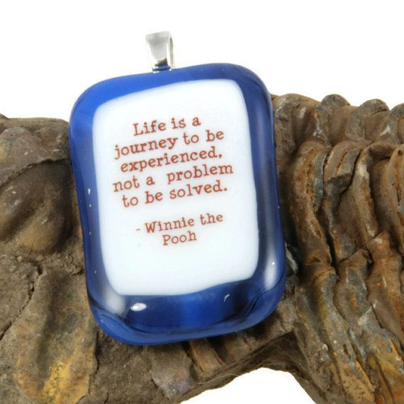 life is a journey to be experienced.....fused by bluedaisyglass, £14.00