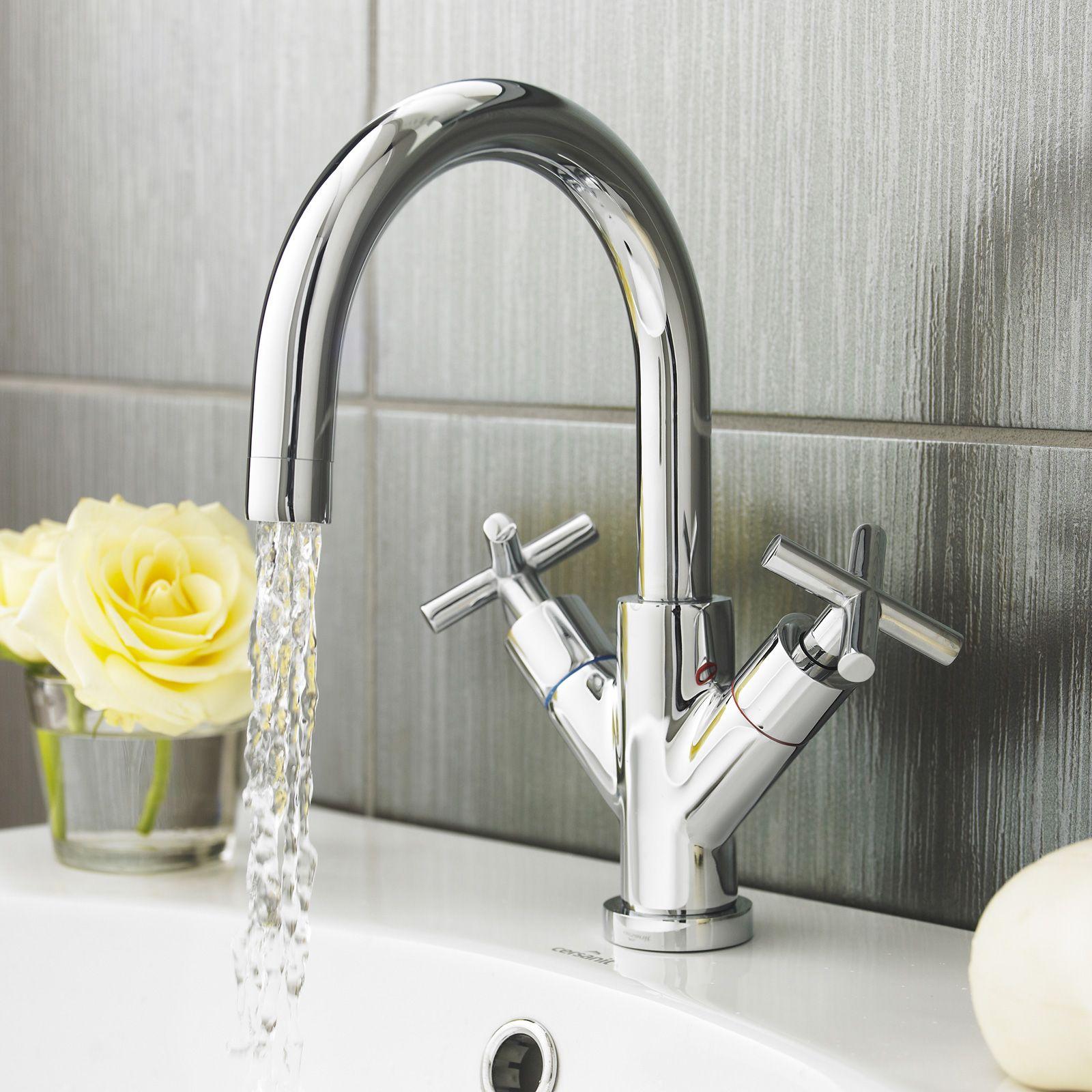 Technique Quartz Crosshead Tap The Bath House Basin Mixer Taps Basin Basin Mixer