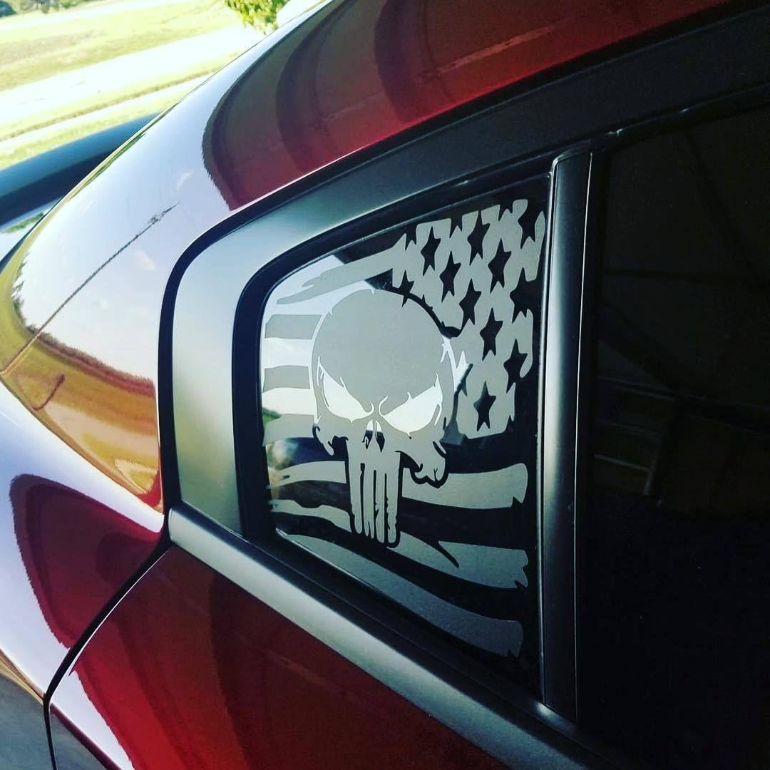 Punisher Semper Fi Sticker windshield door window Marine military