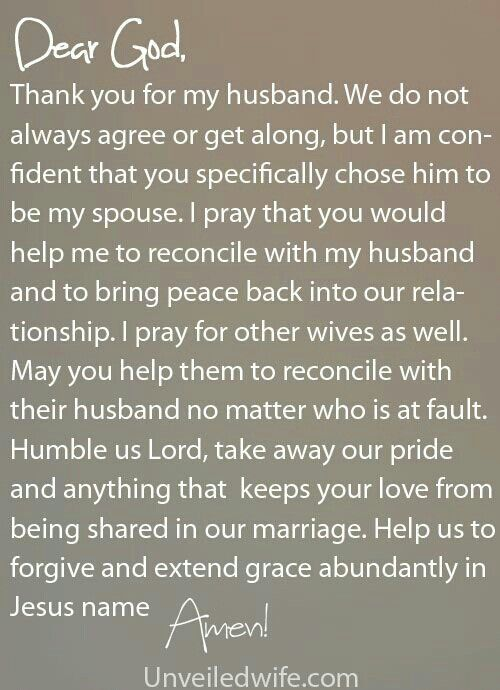 Prayer Of The Day - Reconciling With Your Husband | Marriage