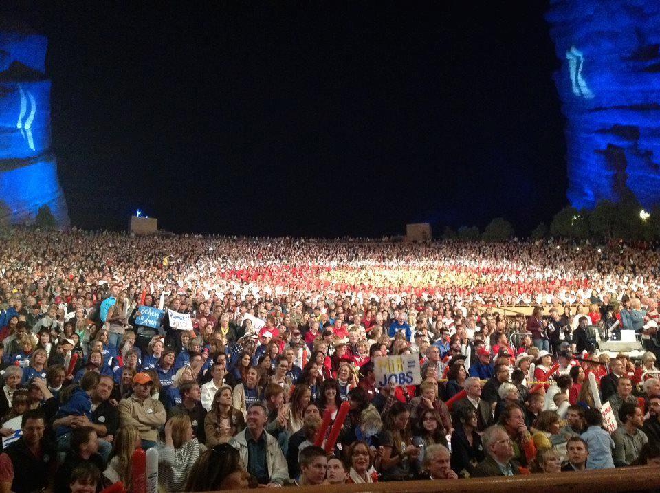 10/24/2012 Full of people in Colorado for RomneyRyan