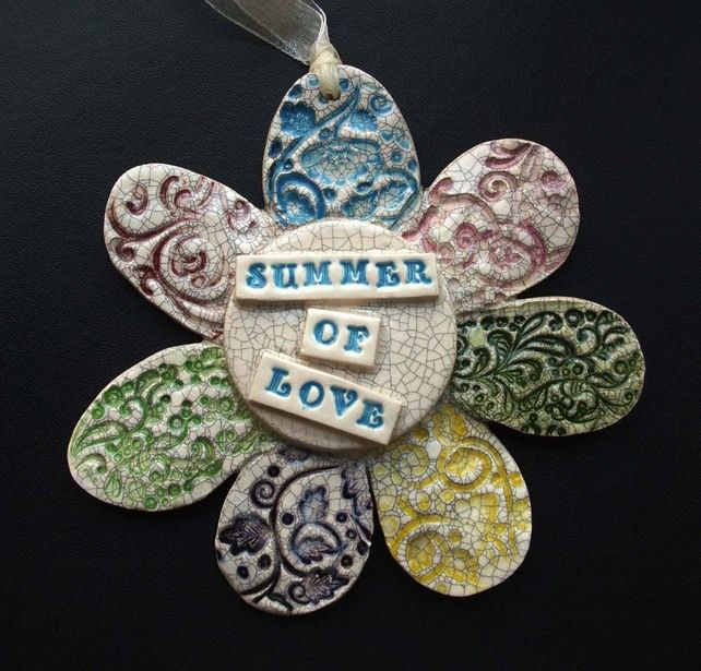 Summer of Love ceramic flower decoration £8.00