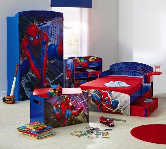 boy bedroom ideas spiderman furniture set for toddler boys home conceptor Spiderman jpg  554 498