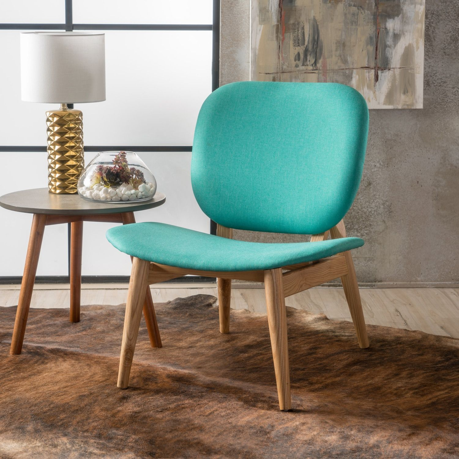 Tina Teal Accent Chair | Leather dining room chairs, Arm ...