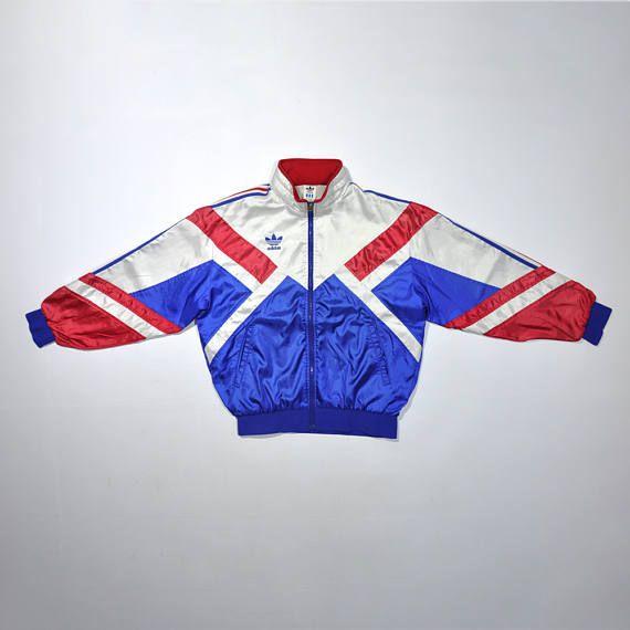 3f5e21f6a1781 Vintage 90s ADIDAS Jacket / ADIDAS Multi Color / ADIDAS Windbreaker ...