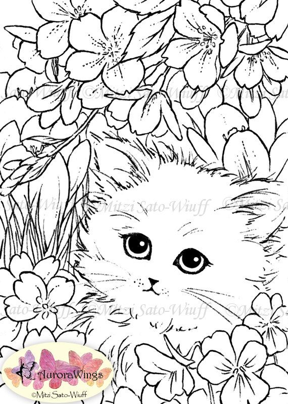 This Item Is Unavailable Etsy Cat Coloring Page Coloring Pages Flower Coloring Pages