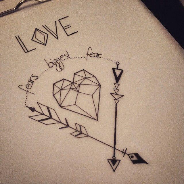 #love #fear #poetry #writing #heart #arrow #tattoo #blackwork #design #art #write #draw #arrowtattoo #hearttattoo #doodle #tattooart #artwork #doodles #doodling