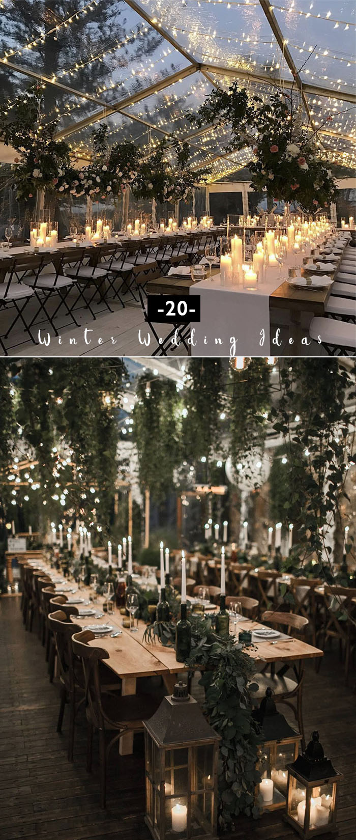20 Greenery Filled Winter Wedding Ideas to Inspire