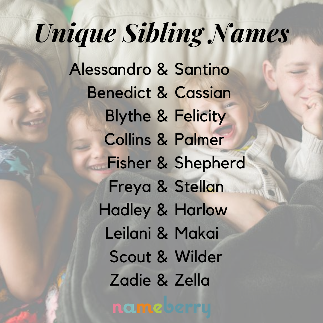 That go together siblings names NAMES FOR