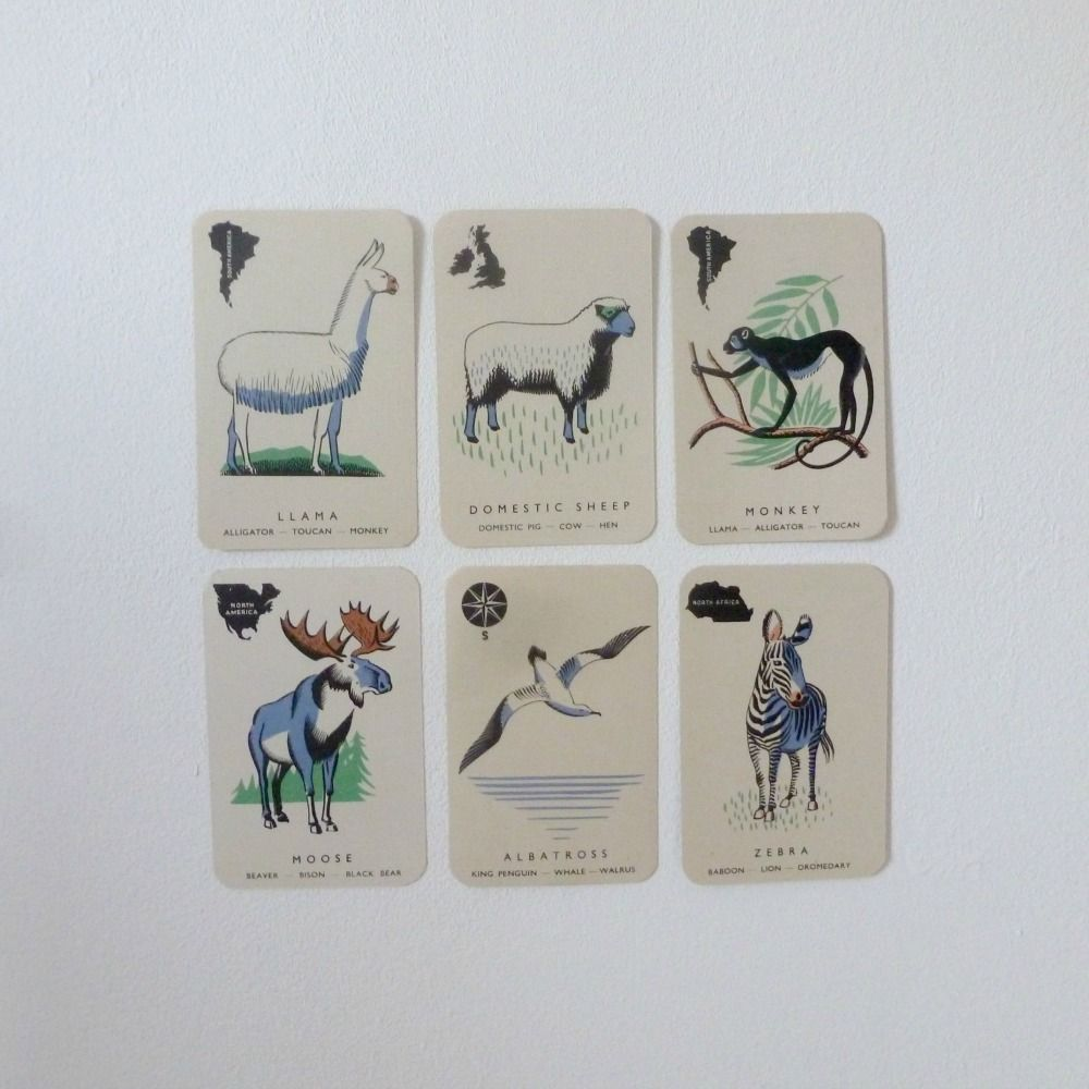 Vintage Animal Families Card Game by Abbatt Toys