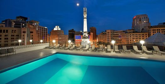 A pool with quite the view - Sheraton Indianapolis City Centre Hotel