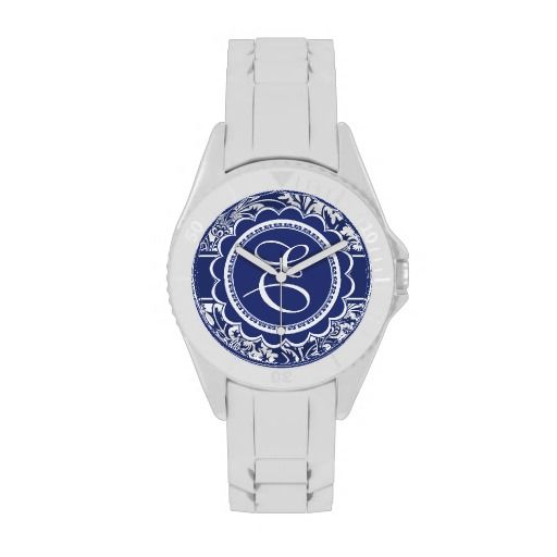 Your Monogram William Morris Blue and White Wrist Watches