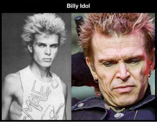 Ido bambini ~ Life in the fast lane takes a toll: billy idol bad pinterest