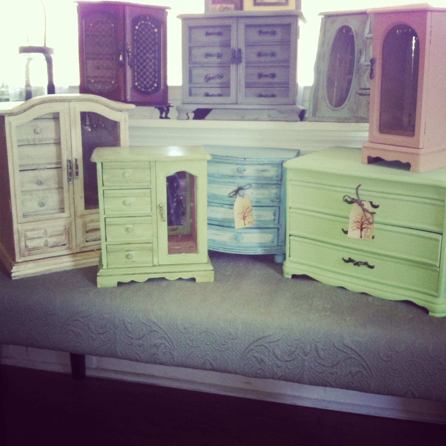 8b8edf1b1 Shabby jewelry boxes from Clearwater trading....I just might paint my stand  up jewelry box!