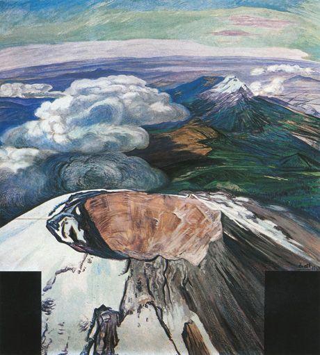 The Artist as Volcano (con imágenes) | Pinturas, Arte mexicano ...