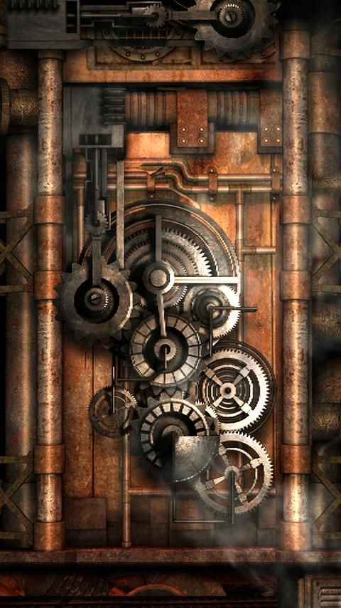 steampunk gears wallpaper - photo #21