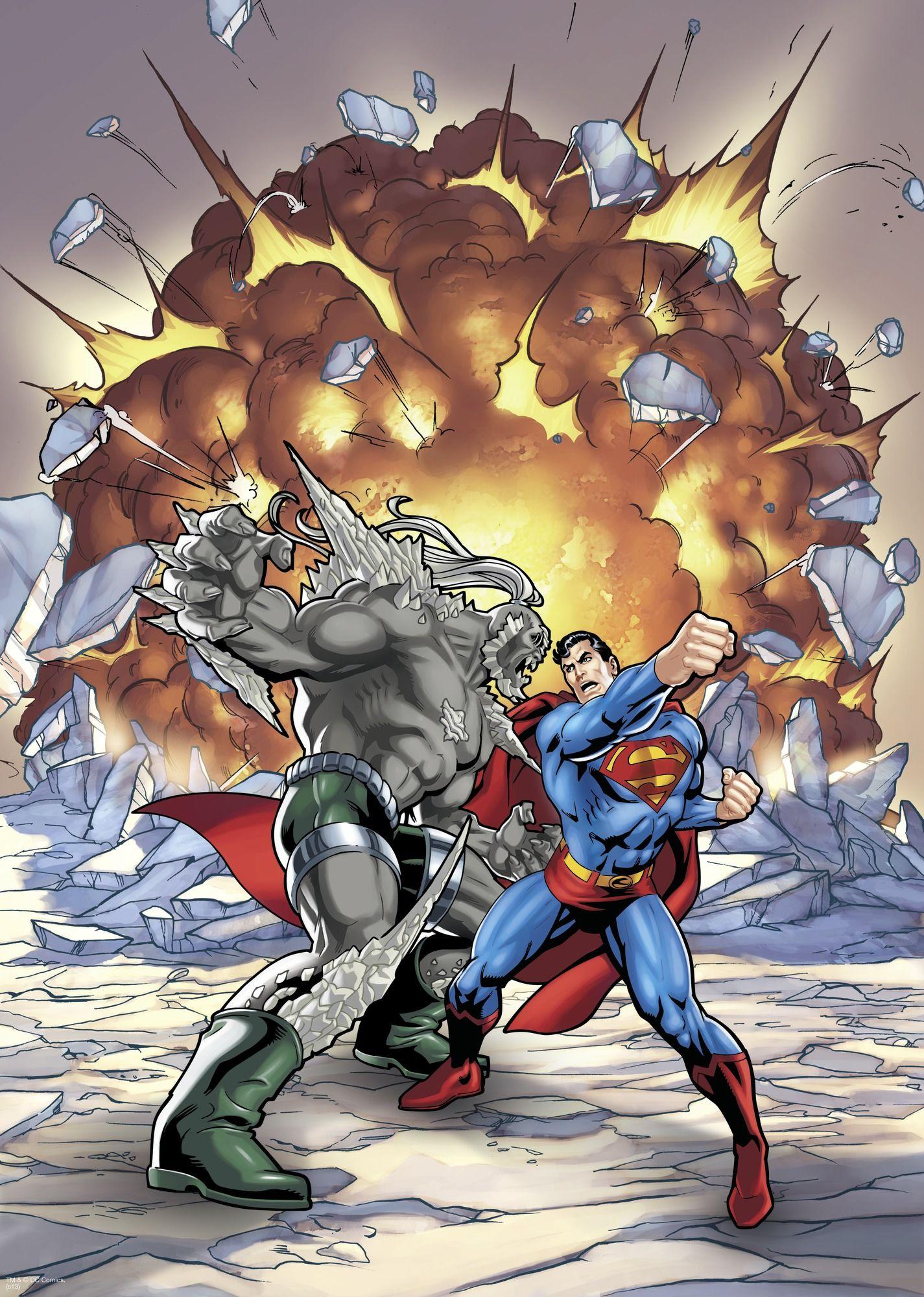 Superman Vs Doomsday Wall Mural