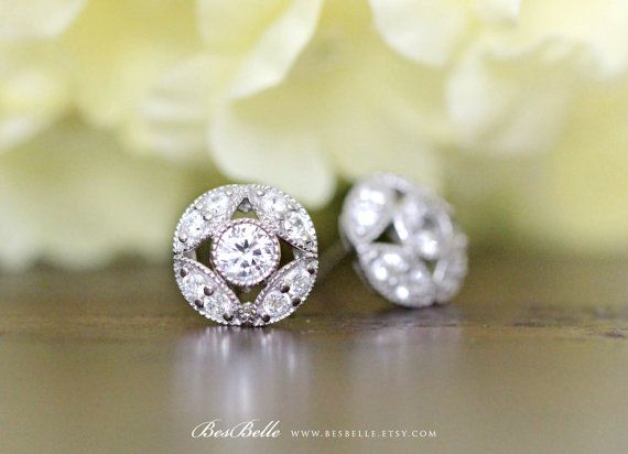 diamond martini deco platinum grande old euro bezel art earrings stud products european set