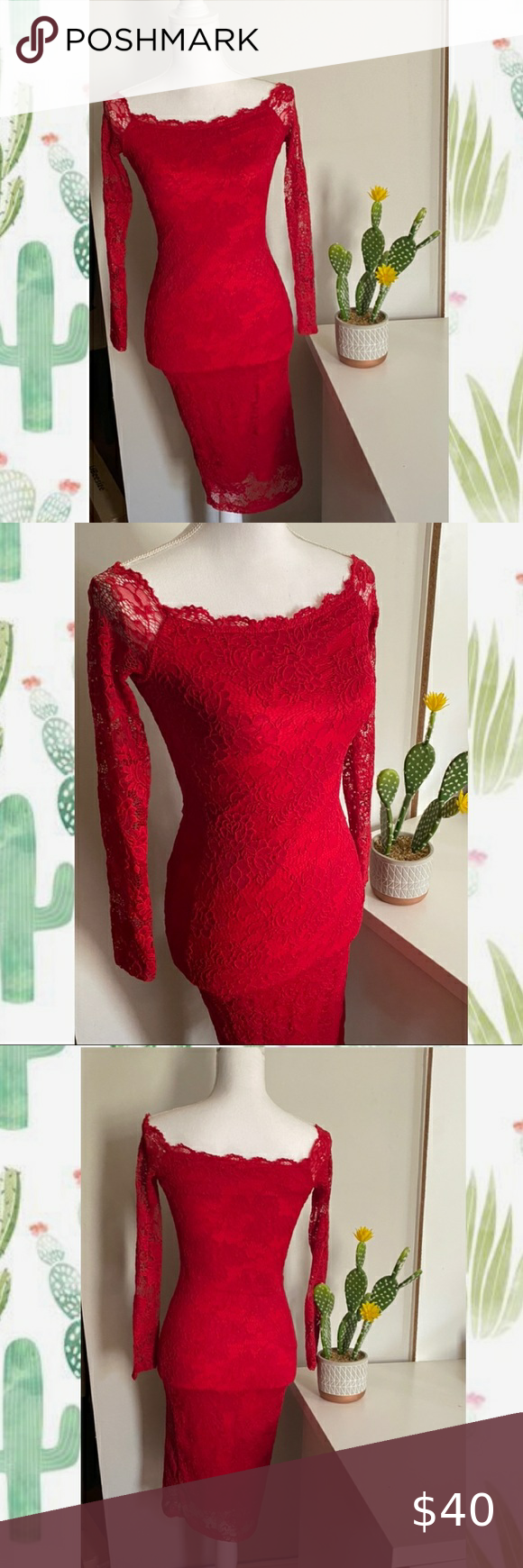 Windsor Knee Length Long Sleeve Red Lace Dress Grace Them W Lace Dress Features An Elastic Can B Red Lace Long Sleeve Dress Red Lace Dress Mini Velvet Dress [ 1740 x 580 Pixel ]