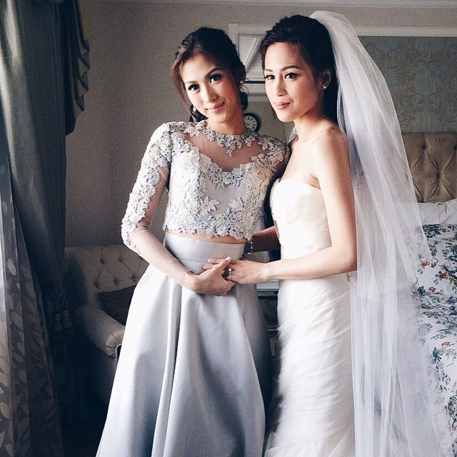 Stylized Studio By Liz Uy On Instagram Last Photo Taken Of The Gonzaga Sisters In Toni S Room Befor Maid Of Honour Dresses Bridesmaid Dresses Wedding Dresses