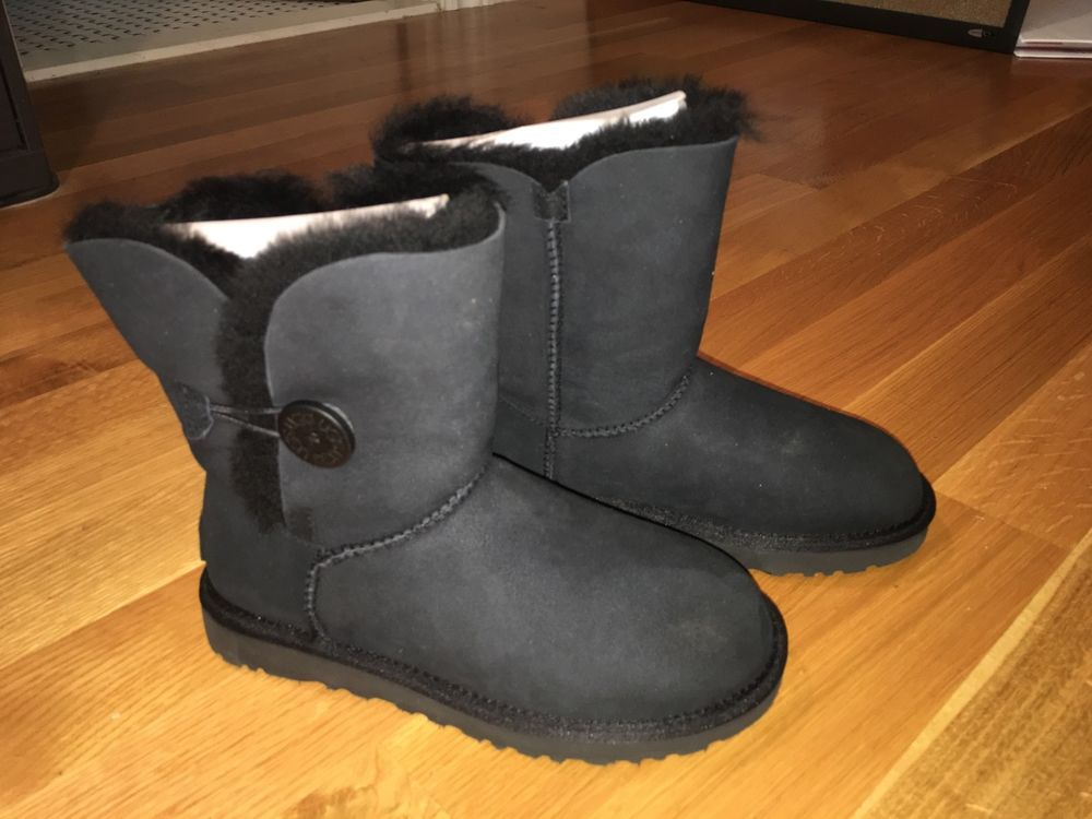 Girls Ugg Australia Fur Lined Black Boots Size 6 Black Fashion Clothing Shoes Accessories Kidsclothingshoesaccs Girlsshoes Boots Black Boots Girls Shoes