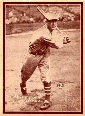 The Trading Card Database 1931 W517 40 Al Simmons Simmons Baseball Cards Sports Cards